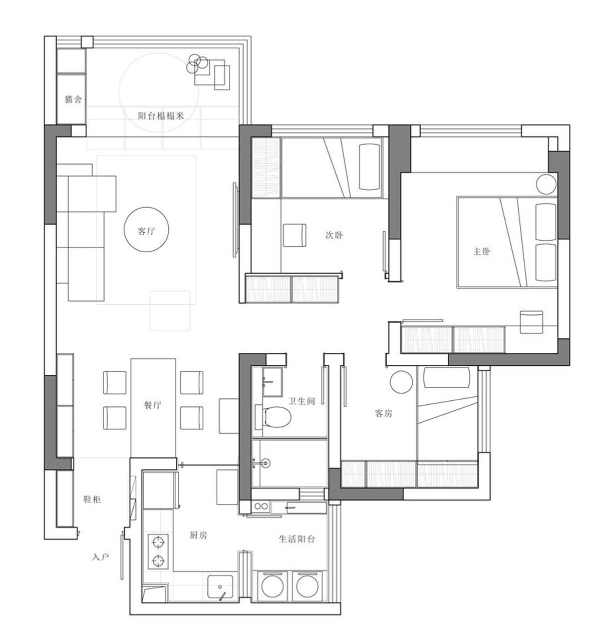 绵阳金和天府色彩柔和的100平三居,一个感情细腻的家——绵阳装修公司哪家好