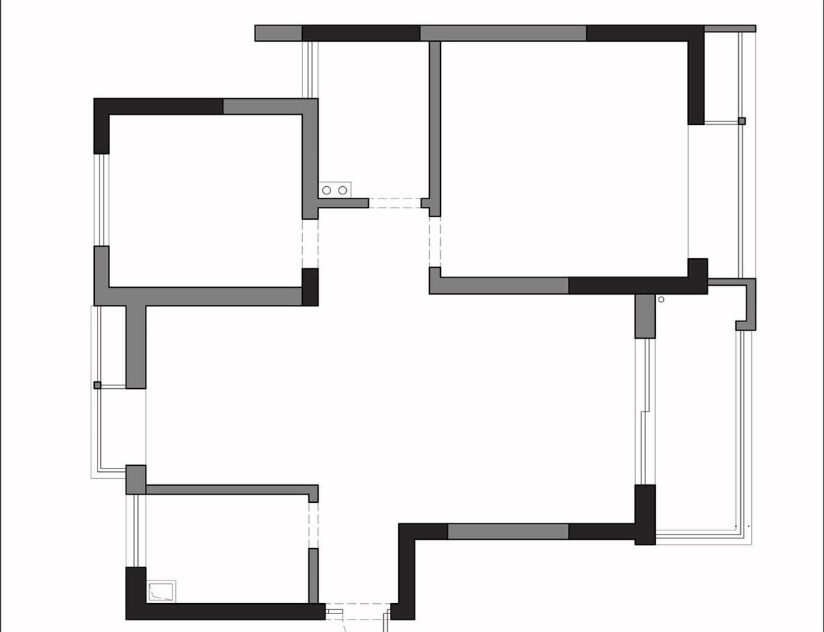 绵阳78㎡小三居室,看设计师翻新改造,深深庭院,焕然一新