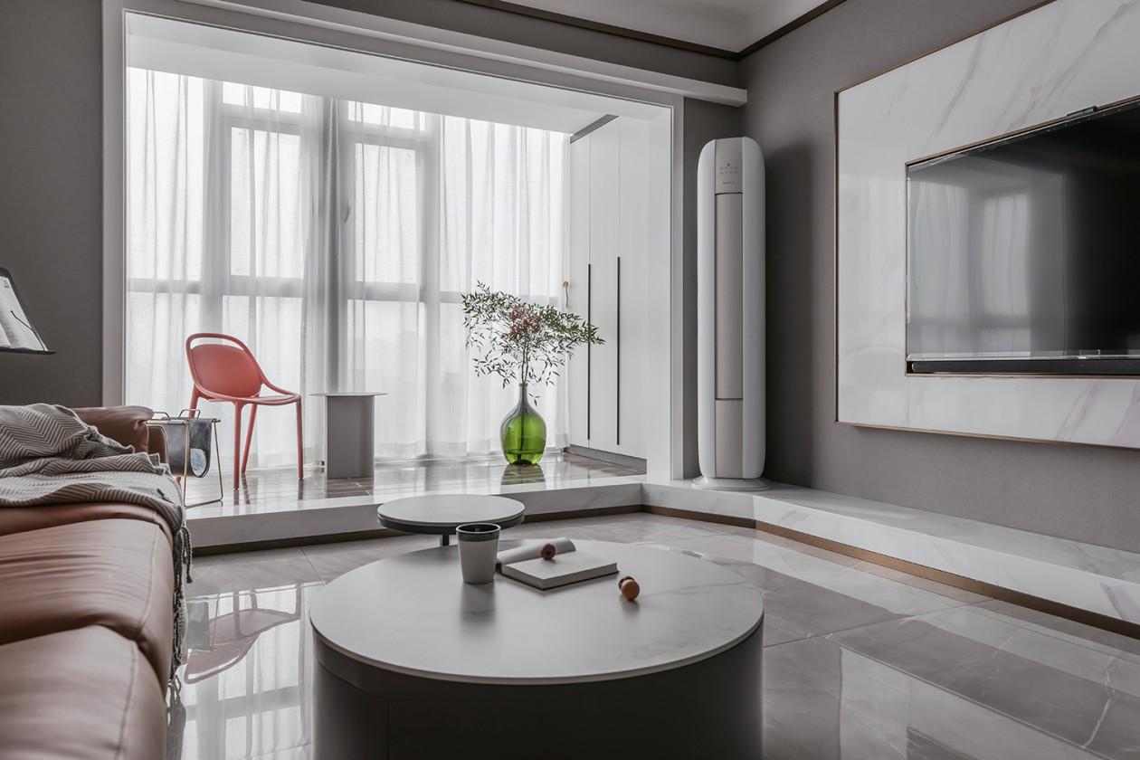 绵阳装修设计 | 现代风格89平的瑾色暖星河——绵阳装修公司